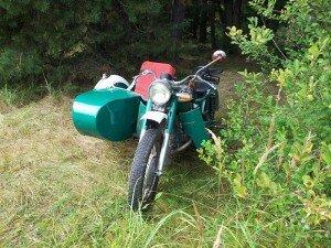 Восстановленный мотоцикл урал