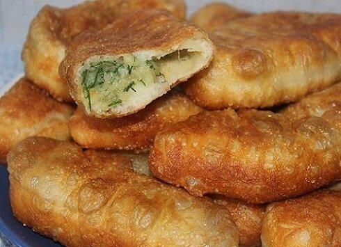 Жареные пирожки с картошкой и луком рецепт