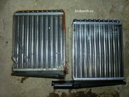 Замена радиатора печки